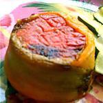 recette Fresh terrine d'été aux poivrons grillés & chèvre frais