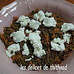 recette salade de lentilles, carottes et chèvre frais