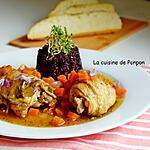 recette Poulet aux carottes à la bière de Chimay et riz noir
