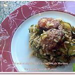 recette Riz aux courgettes et à la saucisse de Morteau