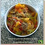 recette Émincé de poivrons (Kenwood)