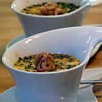 recette Flans de Chicons aux Crevettes Grises
