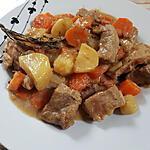 recette Tajine de veau aux légumes, au citron confit et au miel