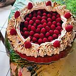 recette tarte aux framboises sur lit de crème pistache