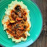 recette Purèe aux lentilles champignons épinards aux épices ( plat complet végétarien)