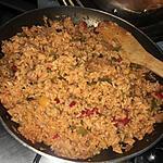 recette Riz grillé aux saucisses