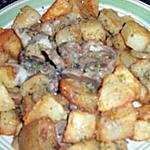 recette Viande d'agneau,champignons,et pommes de terre aux herbes