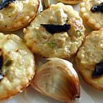 recette Mini quiches au thon lait de coco et ail noir