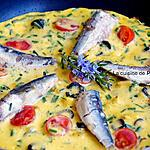 recette Omelette aux tomates, olives et sardines
