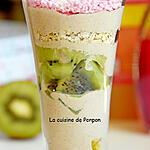 recette Yaourt au kiwi, guarana blanc et sirop saveur tarte aux fraises