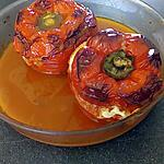 recette poivrons farçi viande de veau et farfalline