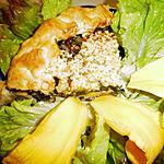 recette La presque tourte, herbes sauvages et fleurs