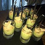recette Verrines d'avocat au yaourt et saumon