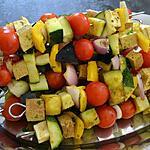 recette Brochettes colorées aux légumes et au tofu