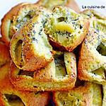 recette Tartelette au kiwi, spiruline et pistache