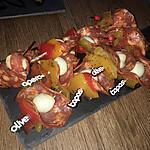 recette Pics tapas apéritif chorizo mozzarella poivrons