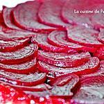 recette Tatin de betteraves rouges et leurs fanes, végétarien