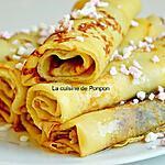 recette Crêpe du chef Piège garnie de confiture de framboise et sirop de gingembre