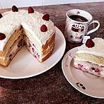 recette Gâteau aux fruits rouges et chantilly