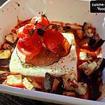 recette Feta tomate aubergine au four, un plat express bon et light!..