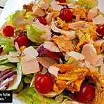 recette Salade au poulet rôti,  vinaigrette au miso