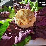 recette Sérac des montagnes au panko sur salade d'arroche