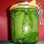 recette Conservation des feuilles de vigne