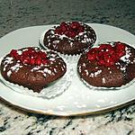 recette Mini-fondants chocolat-framboise