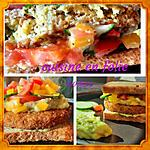 recette Burger sain 100% vegan 100% délicieux !..( falafel, guacamole,  poivrons, tomate, concombre)