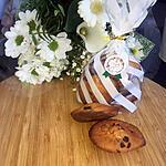 recette Madeleines a la farine de châtaigne et aux pépites de chocolat