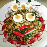 recette Une salade colorée