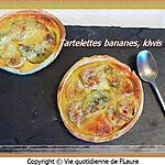 recette Tartelettes bananes, kiwis et coco