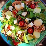 recette Salade repas au choux pomme colrave  cru ( sans gluten)