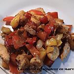recette Poivrons sautés au poulet
