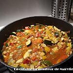 recette Poêlée de légumes et pois chiches