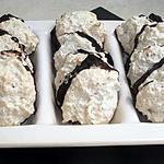 recette Neige de coco sur lit de chocolat