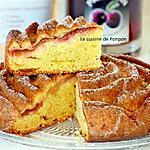 recette Gâteau yaourt aux prunes et confiture de lait