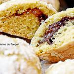 recette Biscuit craquelé à la pâte à tartiner chocolat, noisette, citron et coriandre