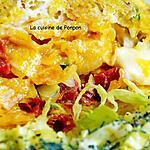 recette Apéro ou repas omelette dans un sachet de chips, végétarien