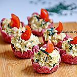recette Amuse bouche à la salade de thon