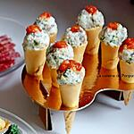recette Amuse bouche cornet aux rillettes de maquereau