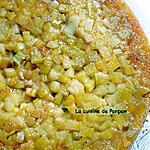 recette Gâteau renversé à la rhubarbe de l'académie du goût