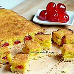 recette Carré aux cerises confites et crème d'amande