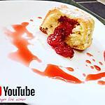 recette coulants aux cœurs de fraise