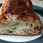 recette Cake salé courgette, chèvre frais, tomates séchées