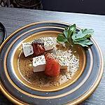 recette mini brochettes mozzarella , tomates grillées , herbes