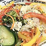 recette nouilles de riz aux légumes
