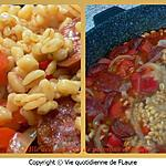 recette Blé accompagné de poivrons et chorizo