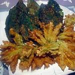 recette beignets de consoudes et fleurs de courgettes.Tatie/Cuisinette