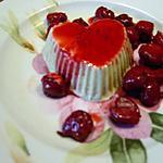 recette glace pistache safranée aux épices douces et ses cerises au porto(15mns)